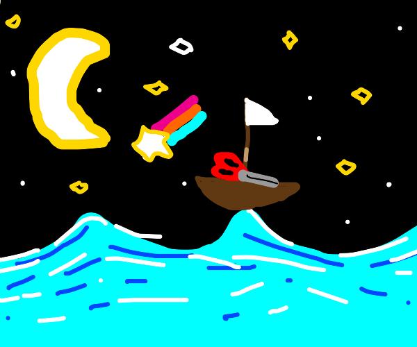 A Scissors crossing the Ocean