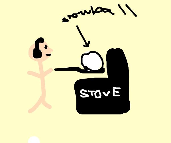 DJ cooking a Snowball