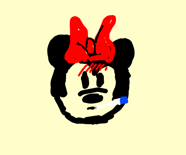 Minnie Mouse has a cold.