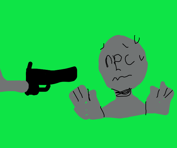 Player is hold npc a gunpoint