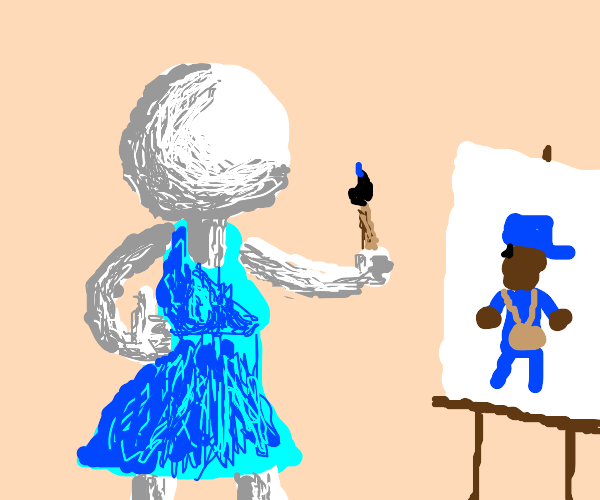 """""""I just love my painting of the mailman."""""""