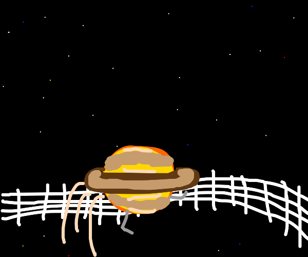 Saturn jumps over a fence