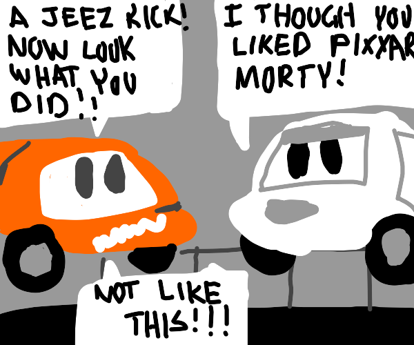 Rick and morty become cars