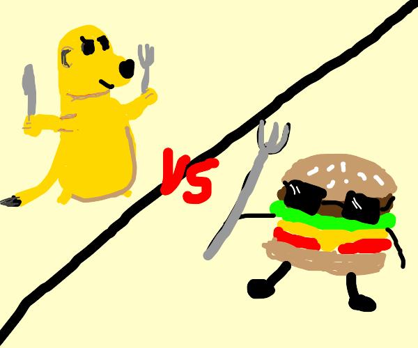 Hamburger vs Meerkat