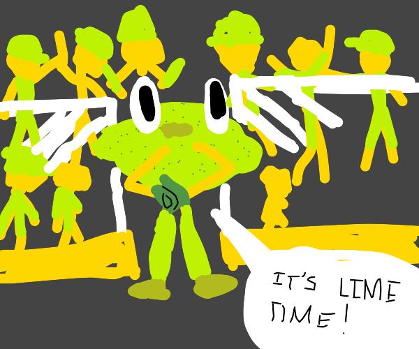 Team Lime mascot