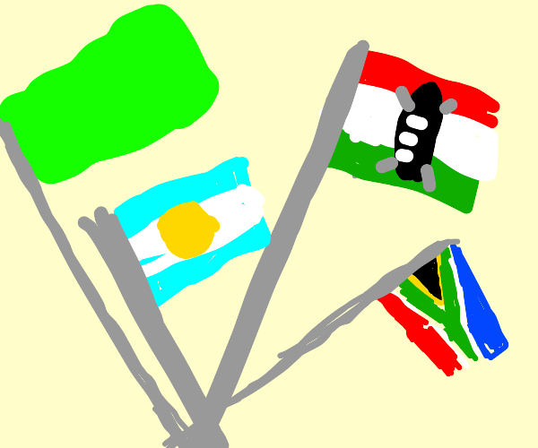 Four African flags