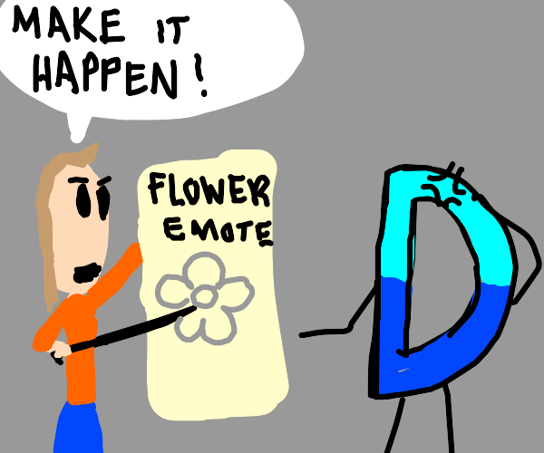 Drawception user wants flowers in games