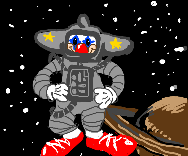 clown in space !