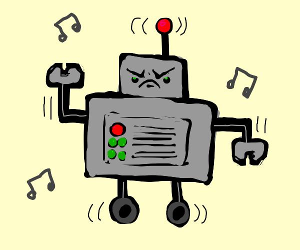 angry robo boi doin a dance