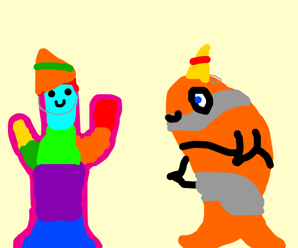 Happy B-day, Rainbow Cactus and Clown Fish