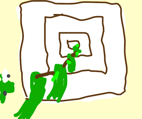 picture of frog is drawing itself