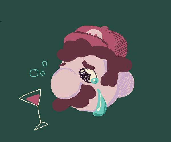 Drunk Mario is resentful