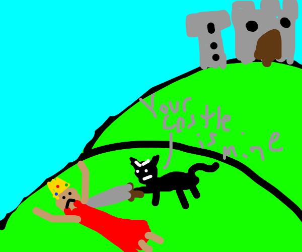 Cat conquerors your castle