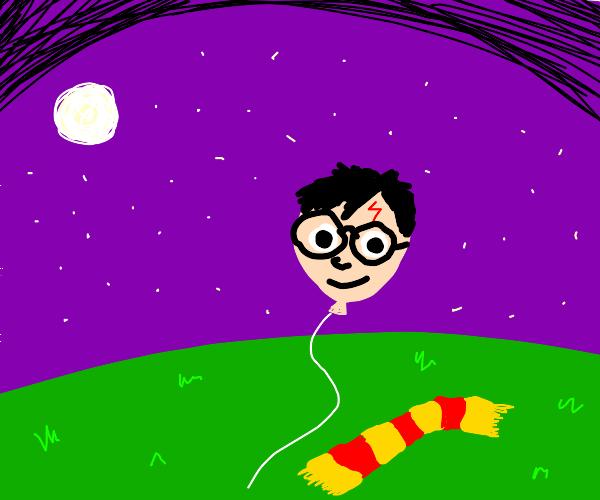 Harry Potter as a balloon