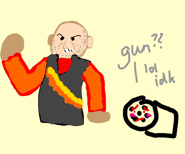 Heavy: WHO TOUCHED MY GUN!
