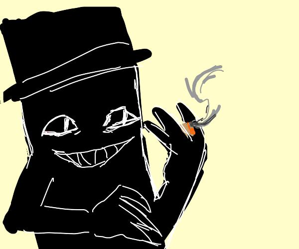 The Babadook smoking weed