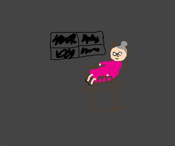 Grandma contemplates her remaining hours