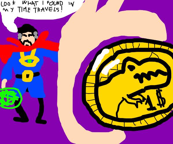 strange dinosaur coin