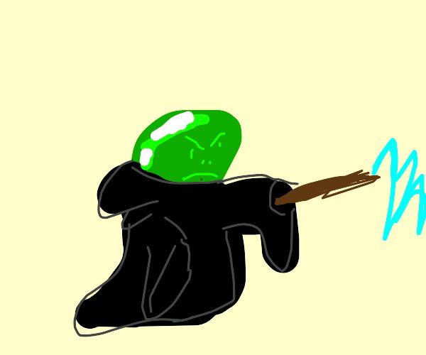 Voldemort but he's a green jellybean