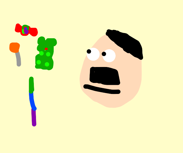 Hitler really wants to eat candy