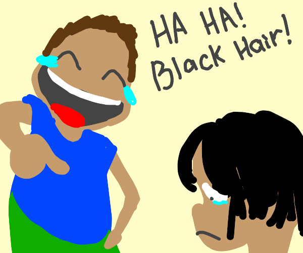 brown haired guy bullies black haired guy