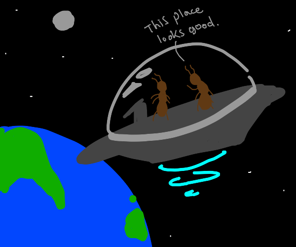 Space ants invade Earth!