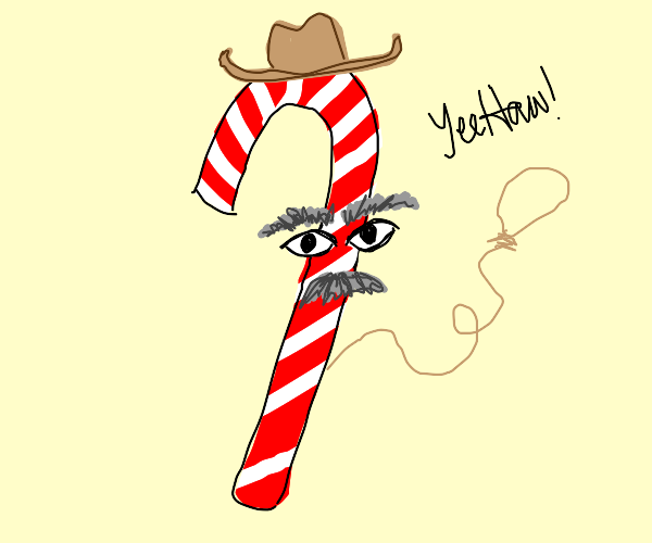old wise candycane cowboy