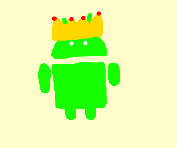 android logo with crown