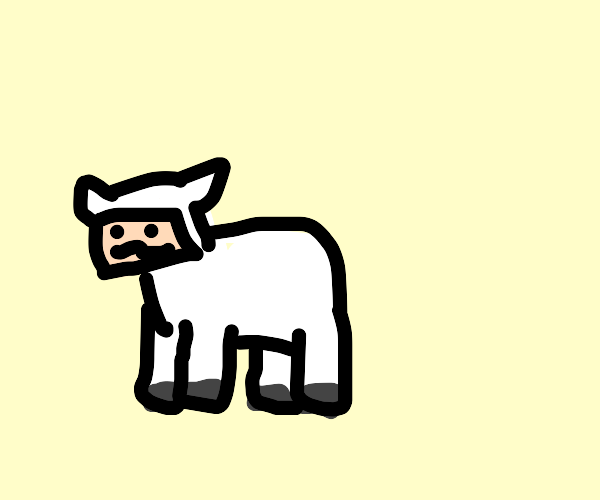 A minecraft sheep