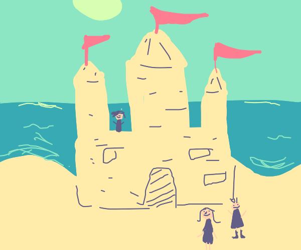 Castle sized sandcastle