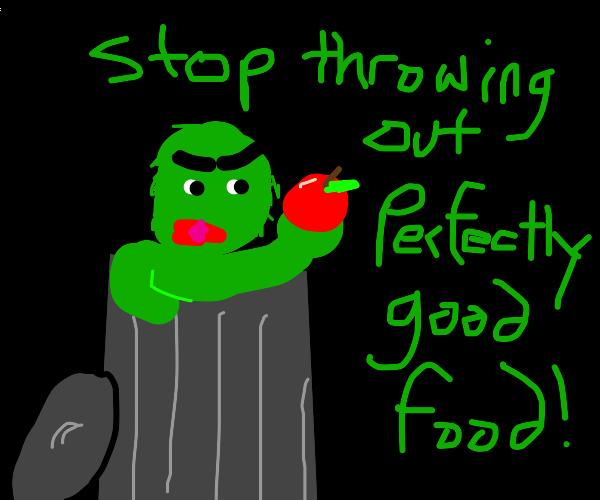 Annoyed Garbageman