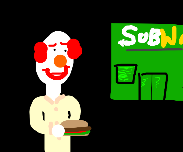 clown with a sub