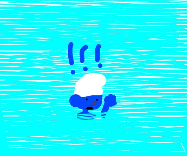 Drowning Smurf