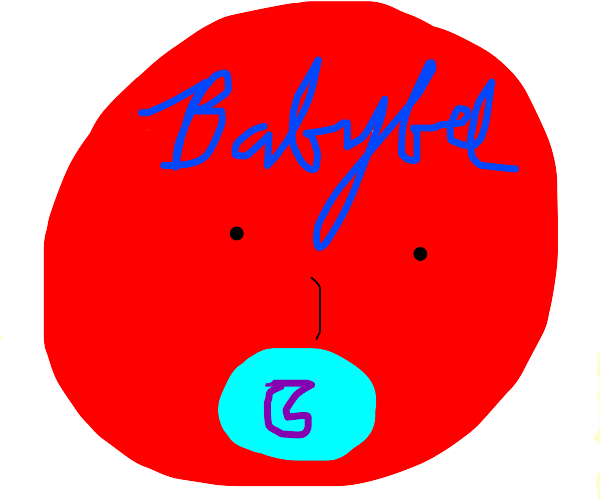 """babybel"" cheese sucks a pacifier"