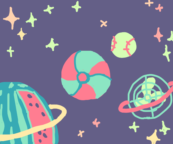 Outer Space but Summer Themed
