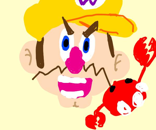 wario eats crab
