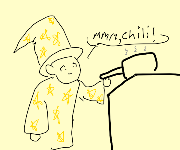 Wizard cooking chili