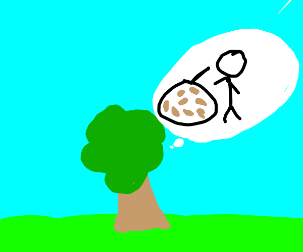 Tree Thinks Of Person Thinking Of Beans :0