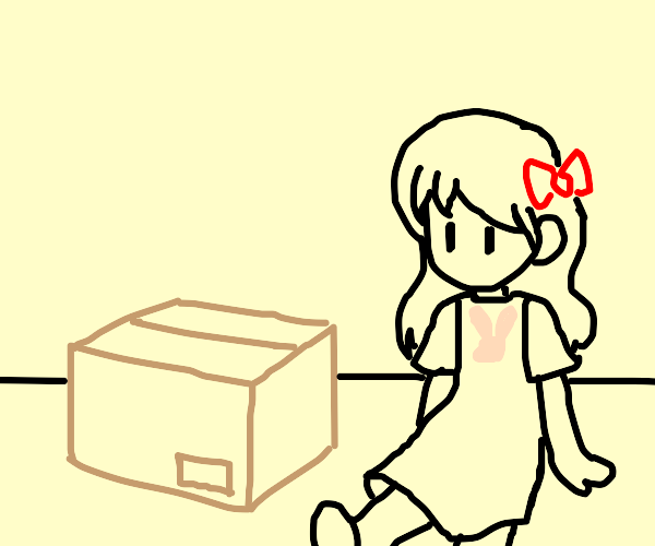 Girl and a box