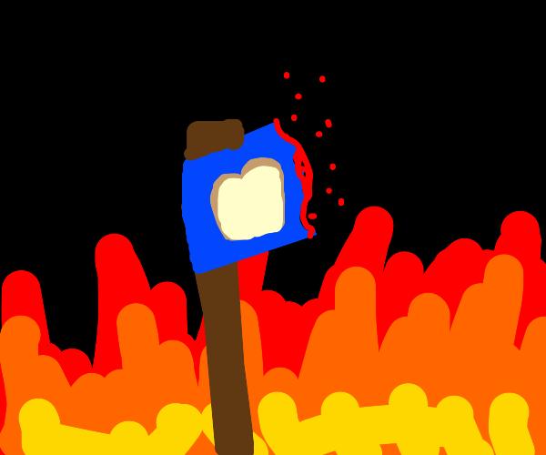 burning the toast flag