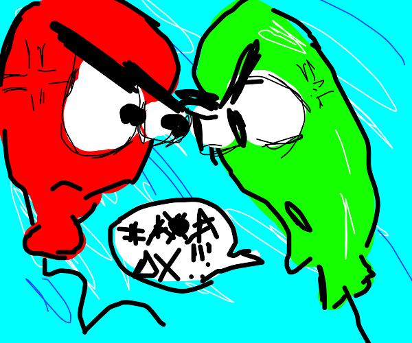 ballons arguing