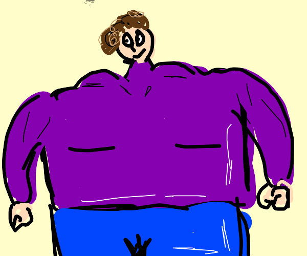 Boy with tiny head and huge body