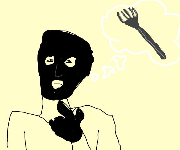 Robber imagining a Fork