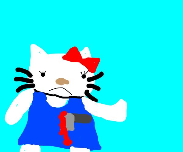 hello kitty is gonna friggin die