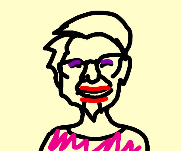 Colonel Sanders in drag