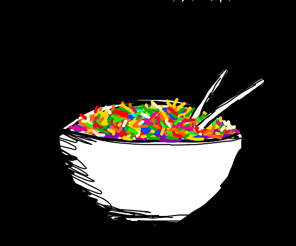 bowl of colorful rice