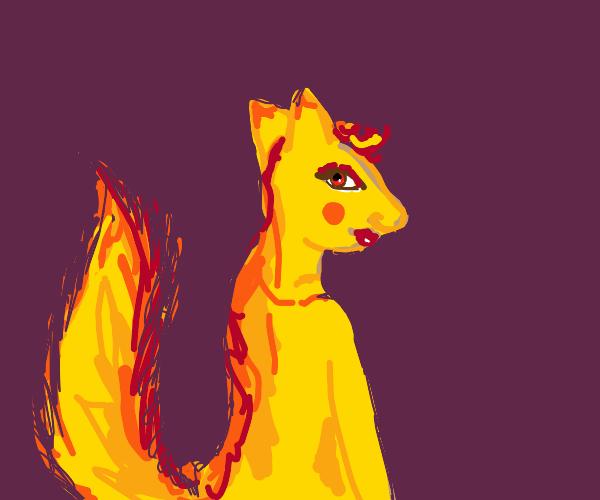 Foxy person