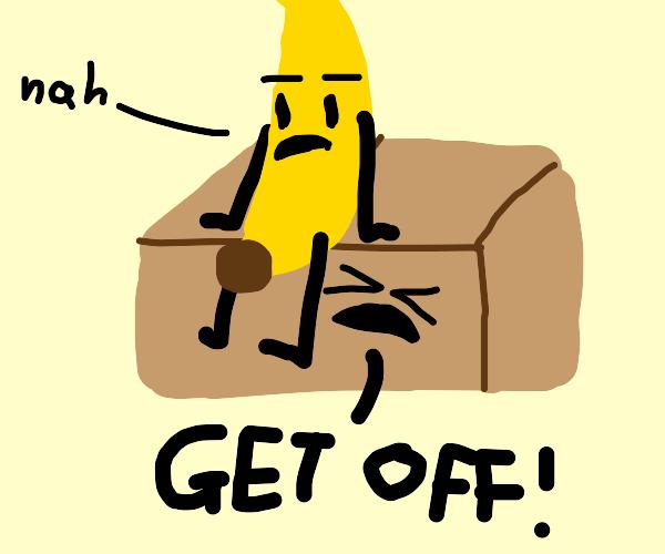 banana and a box