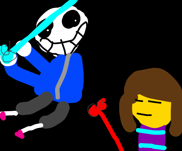 sans using the special blue bone attack