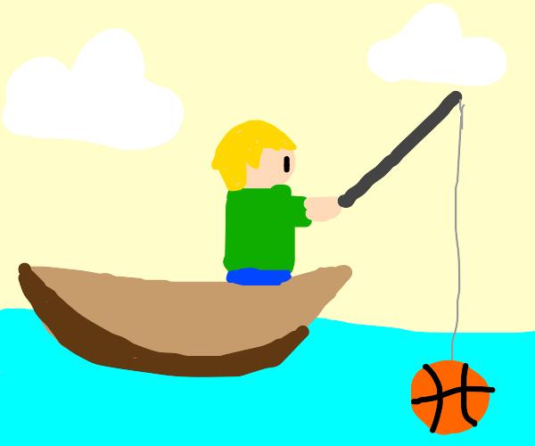fishing for basketballs